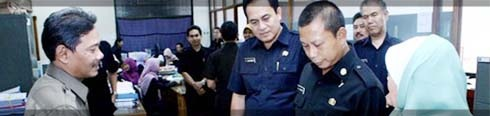 Sidak PNS di Pemkot Bandung