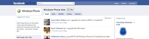 Windows phone Asia Facebook