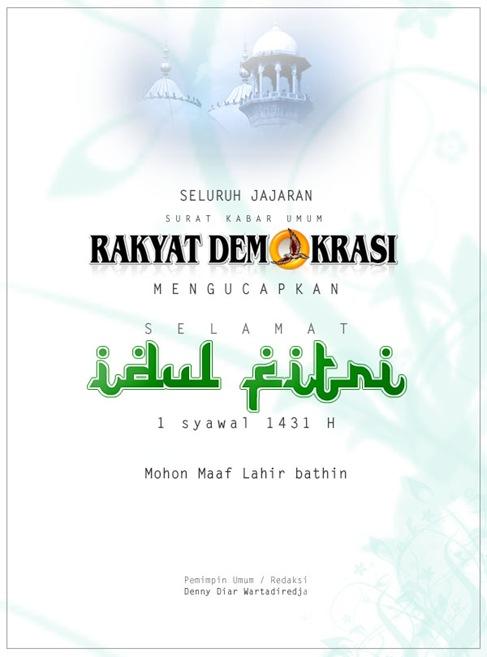 Selamat Idul Fitri 1 Syawal 1431 H