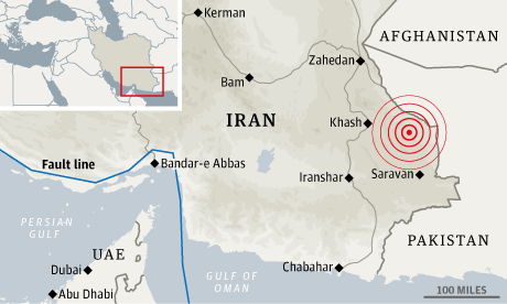 Iran earthquake Location