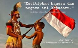 Kutitipkan bangsa negara ini kepadamu ...